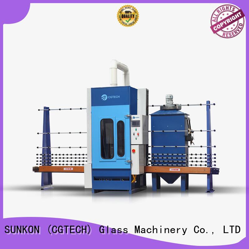 SUNKON autoglass automatic glass sandblasting machine sandblasting machine