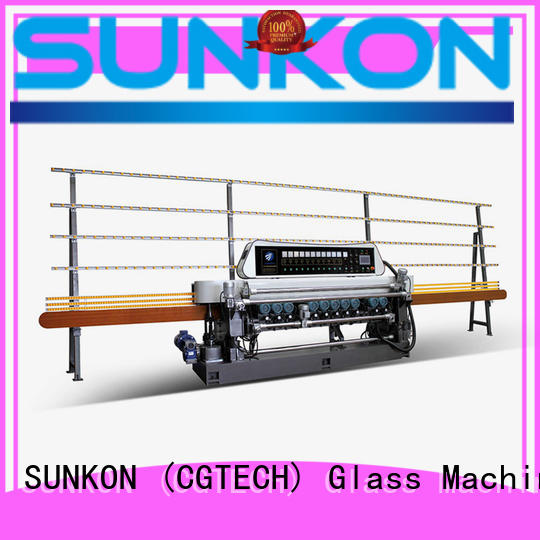 straight lifting glass beveling machine for sale SUNKON Brand