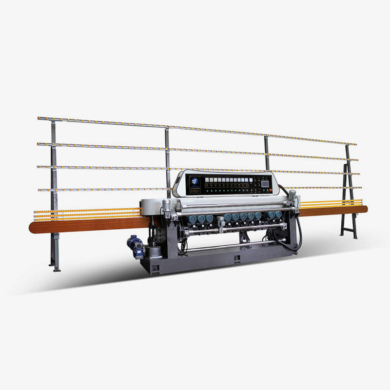 CGX371P 11 Motors Glass Straight Line Beveling Machine With PLC Control