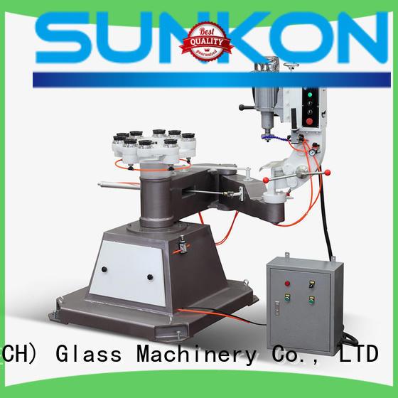SUNKON circles machine glass shape edger outer shape