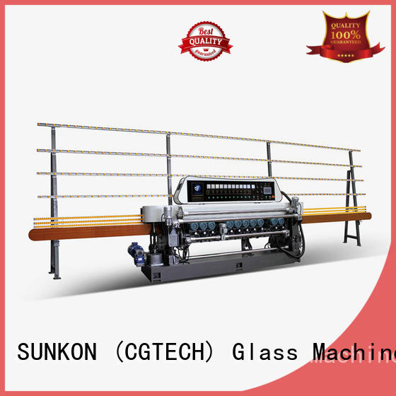 plc straight line glass beveling machine for sale SUNKON