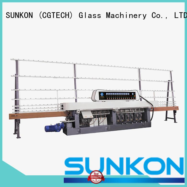 SUNKON straight vertical motors glass straight line beveling machine control