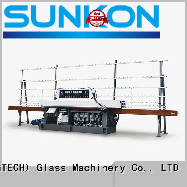 motors flat edge glass edge polishing machine SUNKON