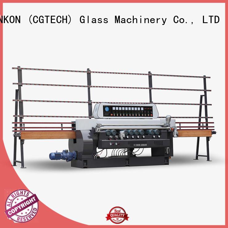 SUNKON line beveling straight bevelled edger      glass beveling machine straight function