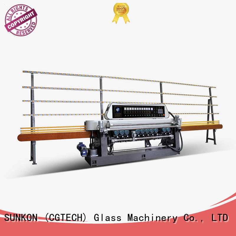 control glass SUNKON straight bevelled edger      glass beveling machine
