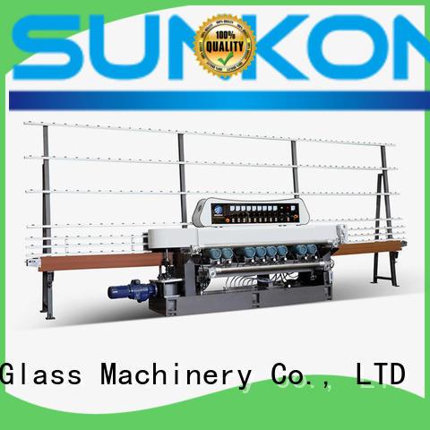 SUNKON Brand digital machine straight bevelled edger      glass beveling machine plc motors