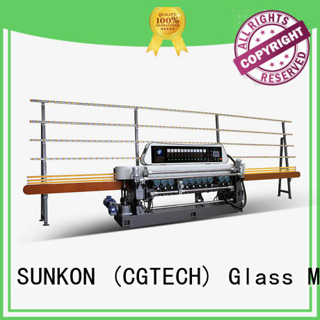 function plc straight bevelled edger      glass beveling machine motors SUNKON
