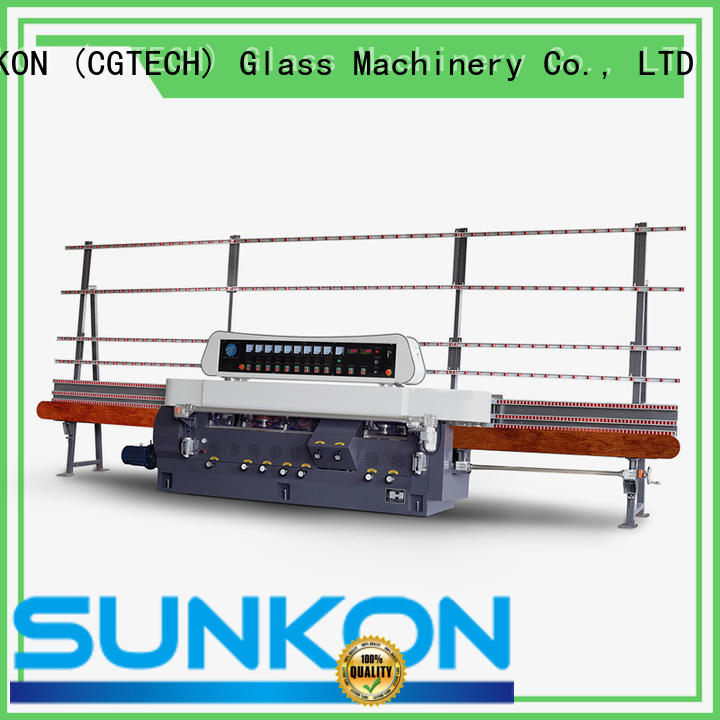 CGZ9325D 9 Motors Glass Straight Line Vertical Edging Machine with Digital Display