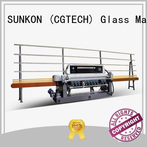 lifting digital line SUNKON glass beveling machine for sale