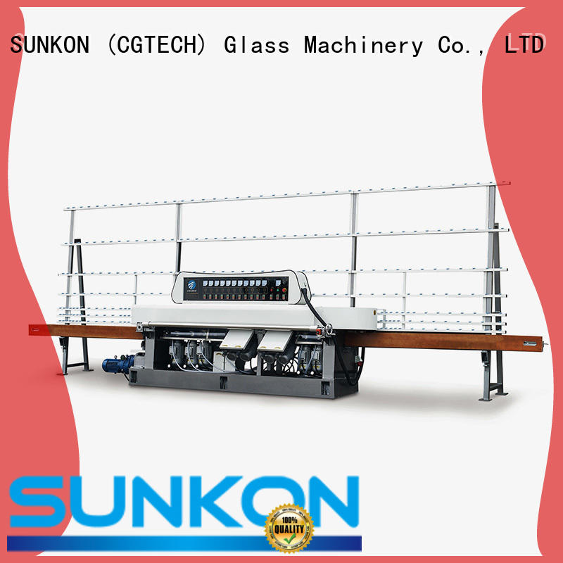 glass straight line beveling machine edging glass OEM straight line edger SUNKON