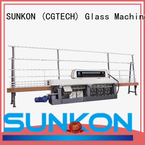 glass straight line beveling machine manual display straight line edger SUNKON Warranty