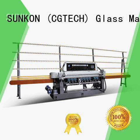 glass beveling machine for sale machine SUNKON Brand straight bevelled edger      glass beveling machine