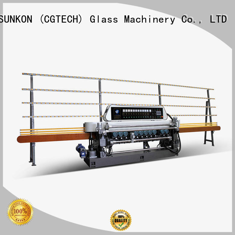 glass beveling machine for sale beveling manual OEM straight bevelled edger      glass beveling machine SUNKON