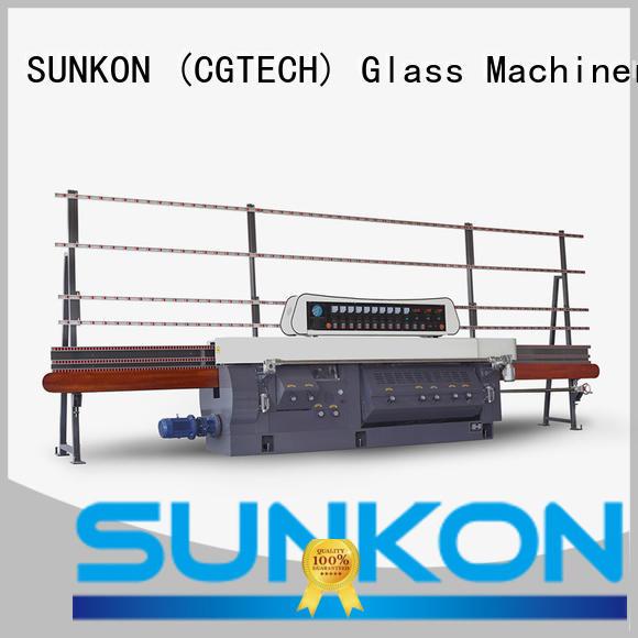 glass edge polishing machine edging miters mitering machine SUNKON Warranty