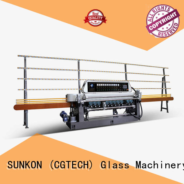 lifting straight control glass beveling machine for sale SUNKON manufacture
