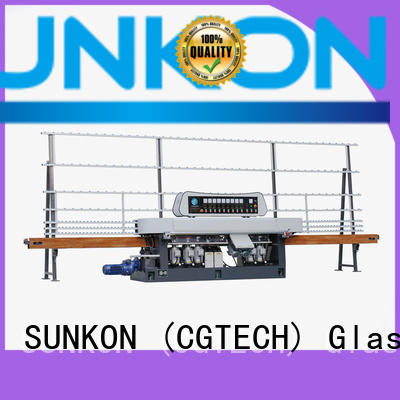 straight digital machine SUNKON glass straight line beveling machine