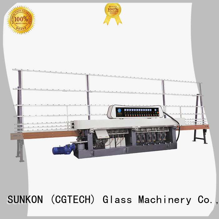 glass straight line beveling machine line digital straight line edger SUNKON Brand