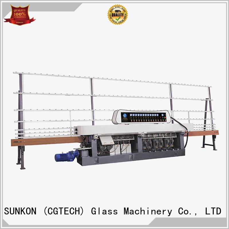 motors machine flat vertical SUNKON glass straight line beveling machine
