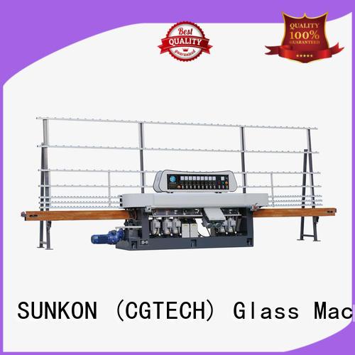 model control glass straight line beveling machine SUNKON