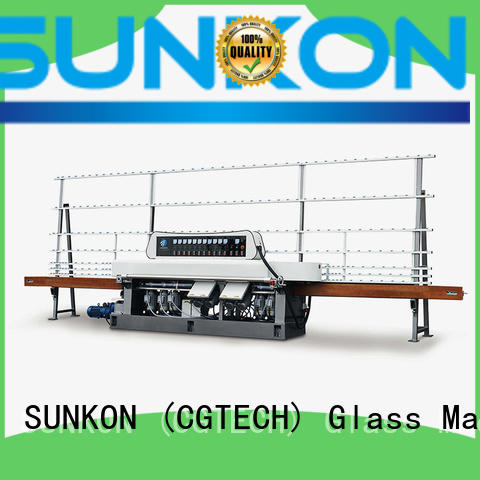 SUNKON Brand grinding manual vertical glass straight line beveling machine
