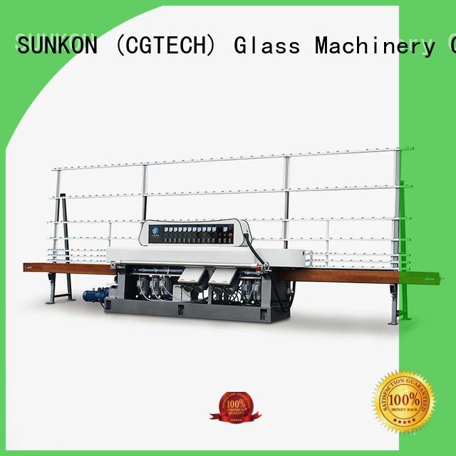 Quality glass straight line beveling machine SUNKON Brand flat straight line edger