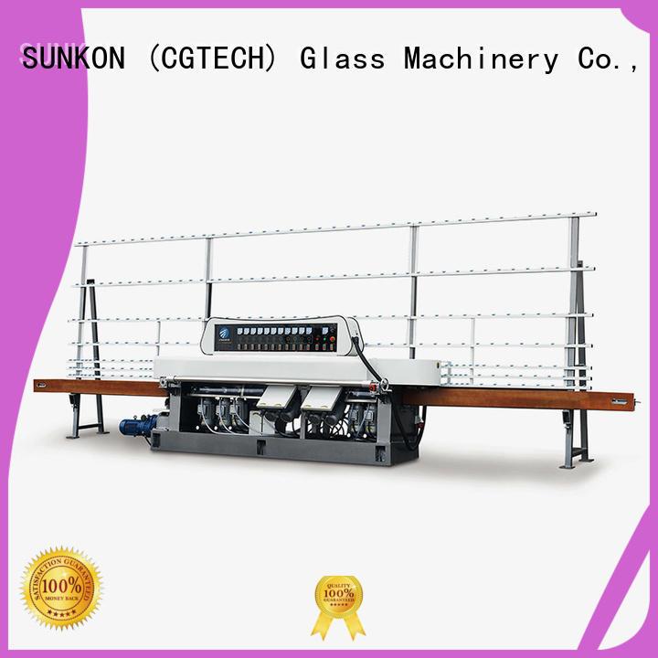 glass straight line beveling machine glass machine plc control SUNKON