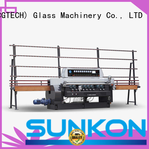 SUNKON Brand beveling function control straight bevelled edger      glass beveling machine