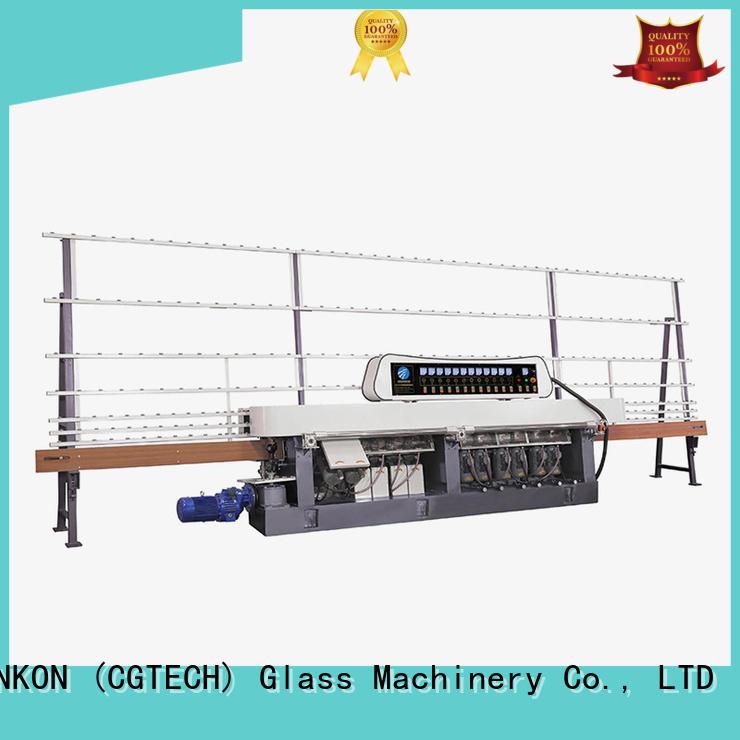 control display flat SUNKON Brand glass straight line beveling machine manufacture