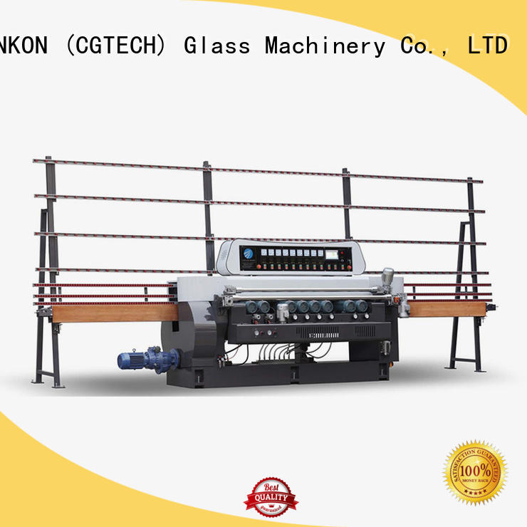 control digital SUNKON straight bevelled edger      glass beveling machine