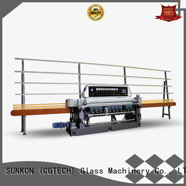SUNKON Brand manual straight glass beveling machine for sale function digital