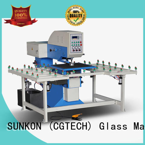 machine glass drilling machine SUNKON drilling glass