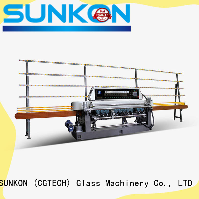 SUNKON certificated glass beveling machine for sale for industry