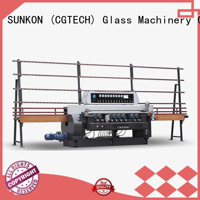 control straight manual plc SUNKON glass beveling machine for sale