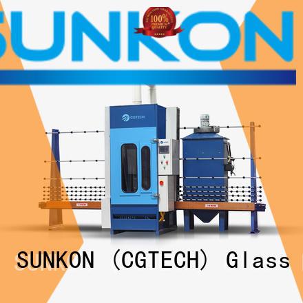 sandblasting automatic glass sandblasting machine SUNKON automatic sandblasting machine manufacturers