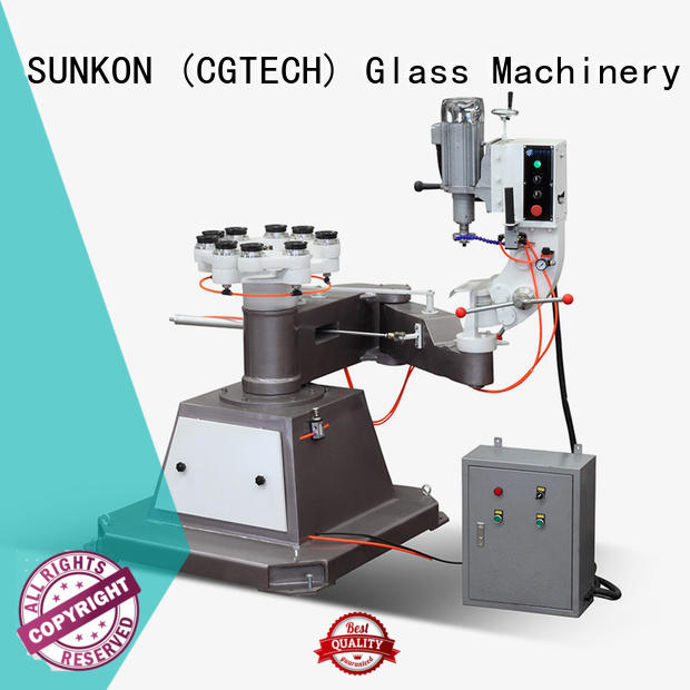 circles glass shape edger SUNKON glass grinding machine price