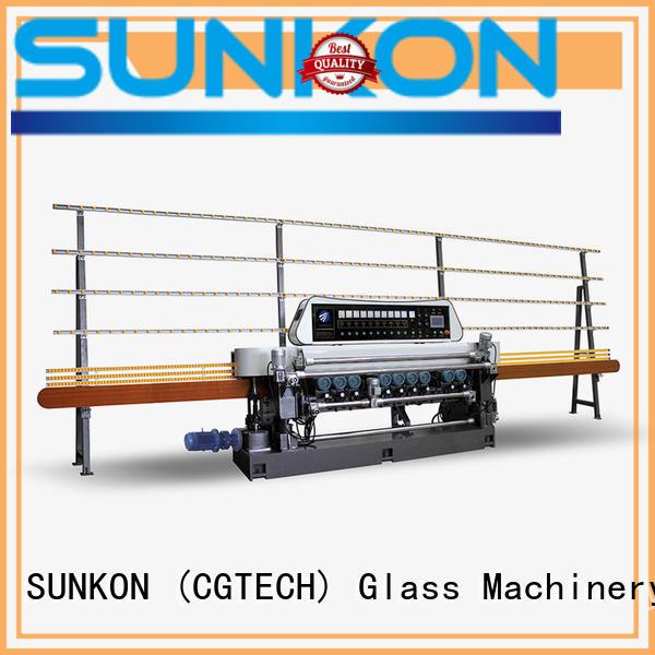 SUNKON Brand glass digital straight bevelled edger      glass beveling machine function beveling
