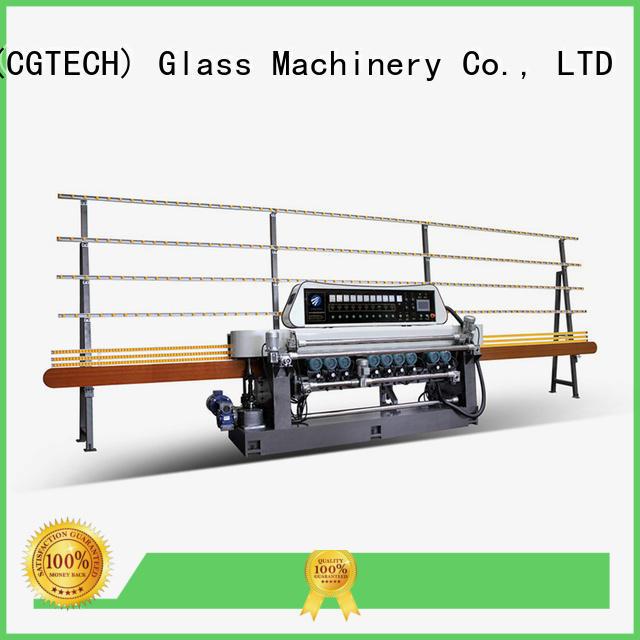 glass beveling machine for sale plc motors straight bevelled edger      glass beveling machine
