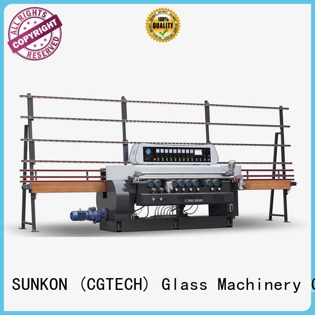 straight digital SUNKON glass beveling machine for sale