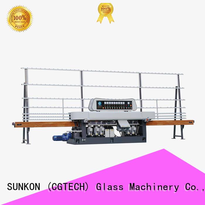 glass straight line beveling machine grinding straight line edger line