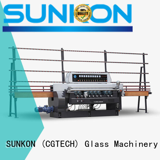 SUNKON straight bevelled edger      glass beveling machine straight digital plc beveling