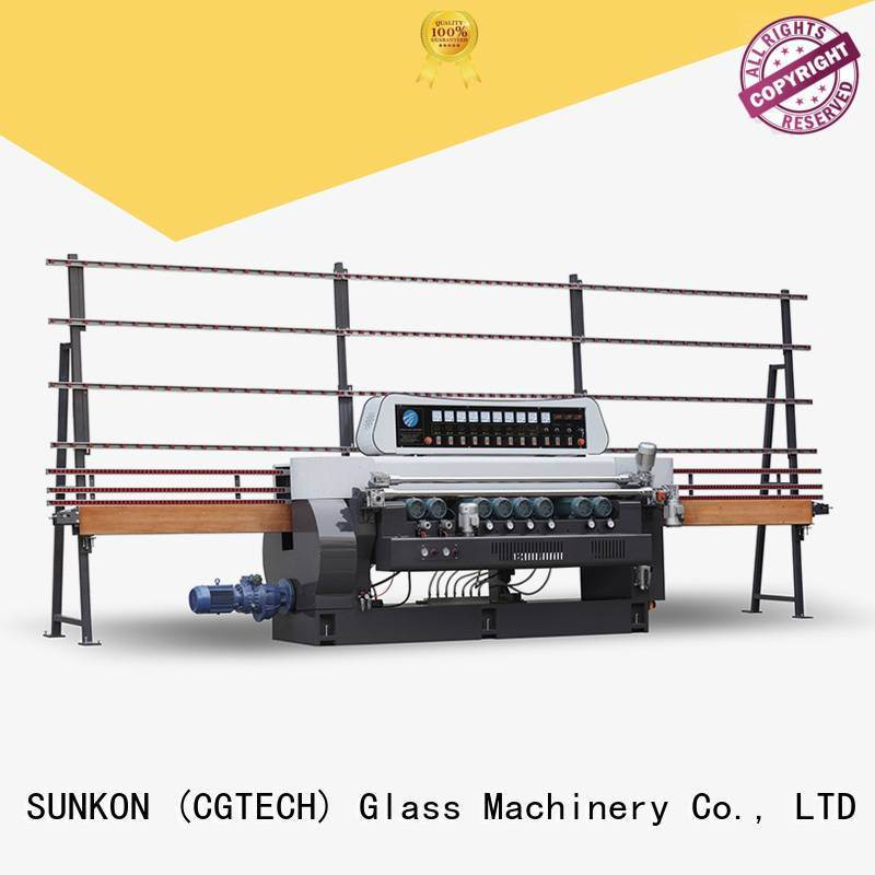 Quality glass beveling machine for sale SUNKON Brand manual straight bevelled edger      glass beveling machine