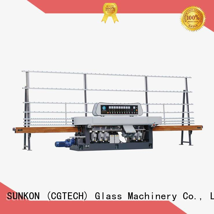 glass straight line beveling machine display plc OEM straight line edger SUNKON