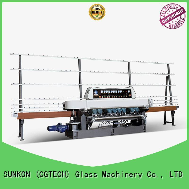 SUNKON motors straight bevelled edger      glass beveling machine control display