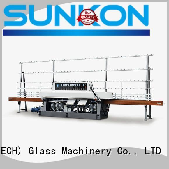 line model edging machine SUNKON glass straight line beveling machine