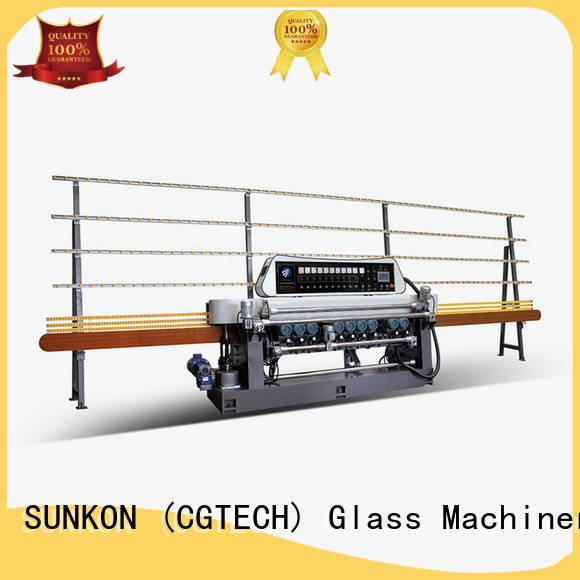 SUNKON machine display glass glass beveling machine for sale line