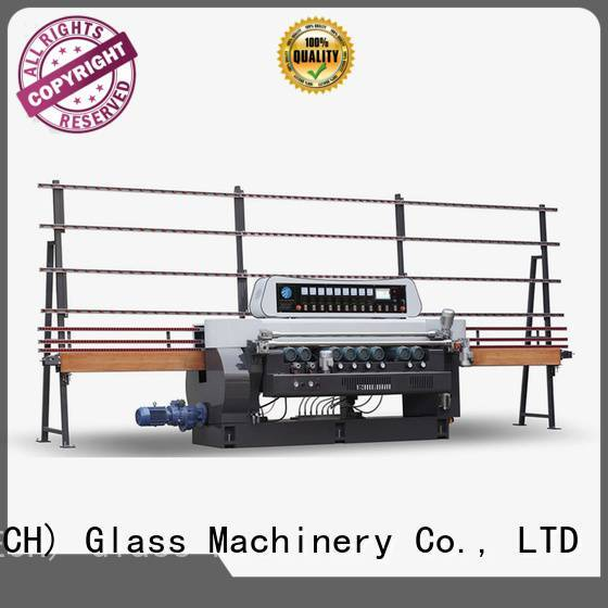SUNKON Brand lifting plc display straight bevelled edger      glass beveling machine machine