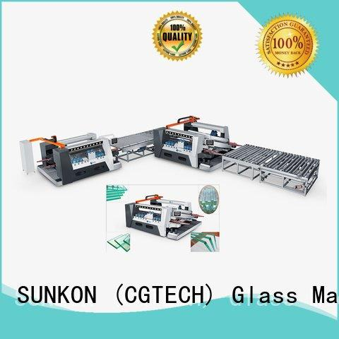 line smart glass double edging machine double SUNKON