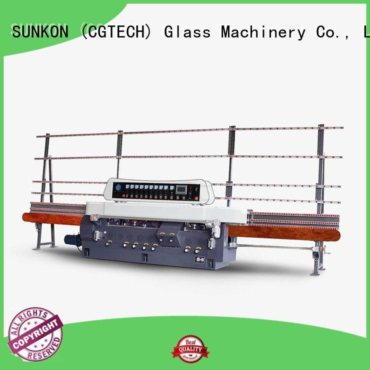 Hot glass straight line beveling machine line straight line edger display SUNKON