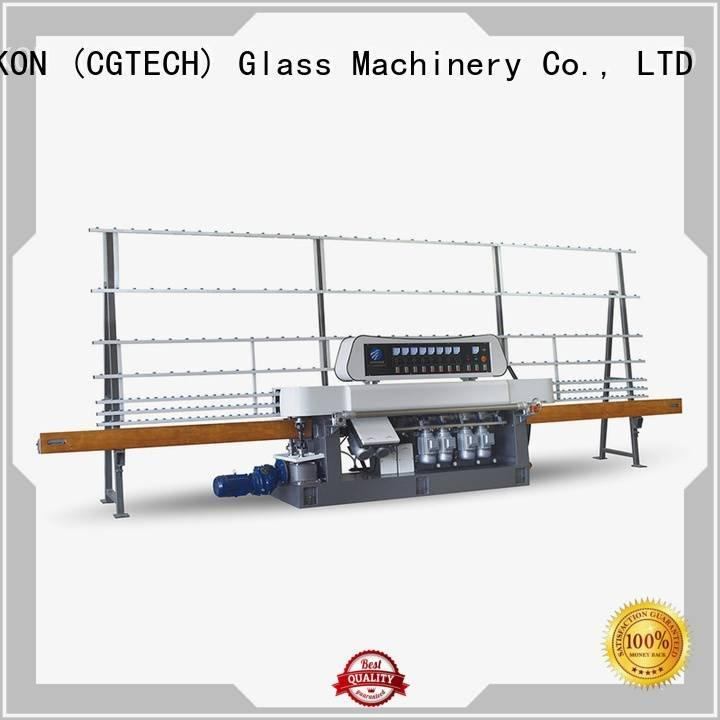 glass straight line beveling machine machine glass vertical display