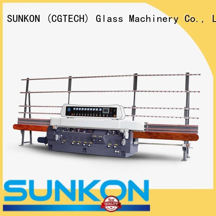 SUNKON Brand motors digital glass straight line beveling machine edging display